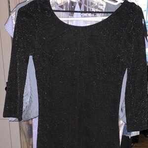 Charlotte Russe black glitter bodycon dress